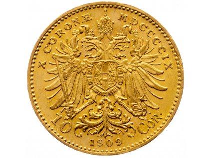 10 Koruna 1909, Schwartz
