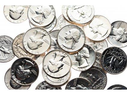 4596 washington 1 4 dollar 1932 1964 bankovni jakost nahodny rocnik