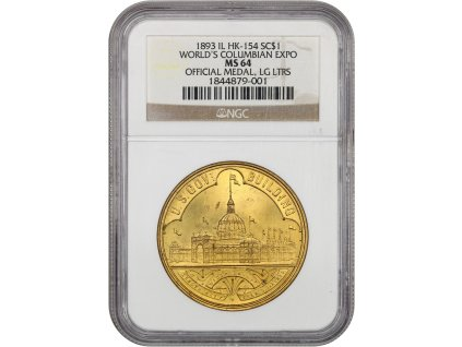 5322 medaile 1893 columbian expo