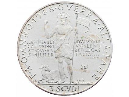 6216 3 scudi 1968