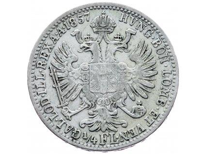 6990 1 4 zlatnik 1857 v