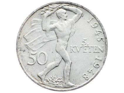 7218 50 koruna 1948 3 vyroci prazskeho povstani