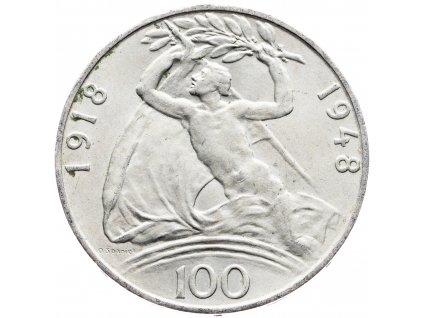 7221 100 koruna 1948 30 vyroci vzniku csr