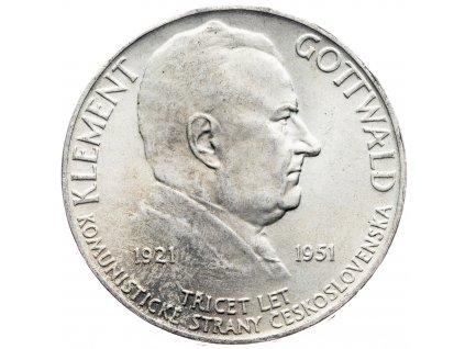 7233 100 koruna 1951 30 vyroci zalozeni ksc klement gottwald