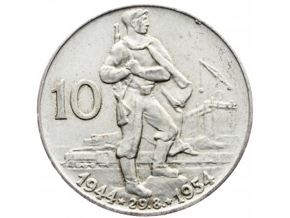 7236 10 koruna 1954 10 vyroci slovenskeho narodniho povstani