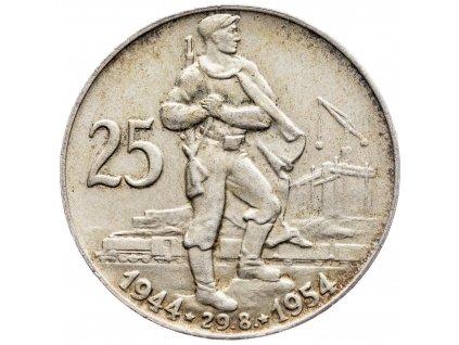 7239 25 koruna 1954 10 vyroci slovenskeho narodniho povstani