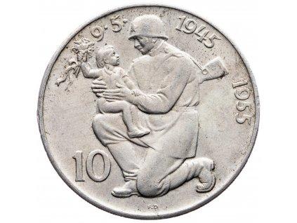 7242 10 koruna 1955 10 vyroci osvobozeni ceskoslovenska