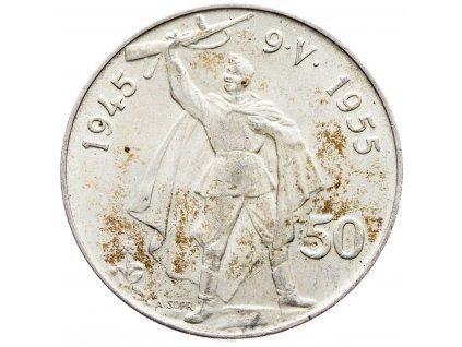 7248 50 koruna 1955 10 vyroci osvobozeni ceskoslovenska