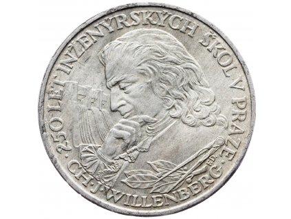 7257 10 koruna 1957 250 vyroci zalozeni inzenyrskych skol v praze