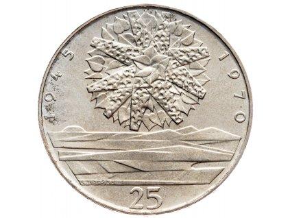 7293 25 koruna 1970 25 let od osvobozeni csr