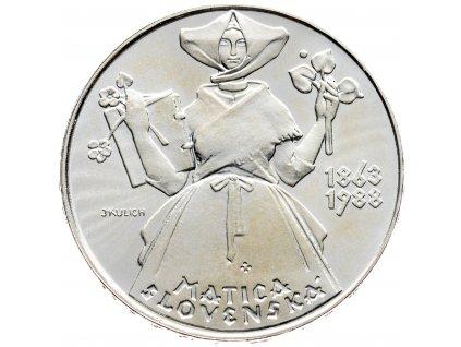 7437 500 koruna 1988 matica slovenska