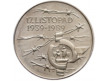 7455 100 koruna 1989 17 listopad 1939 1989