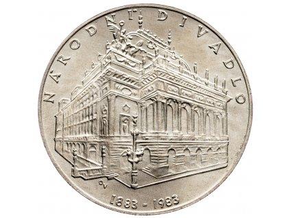 8307 100 koruna 1983 narodni divadlo v praze