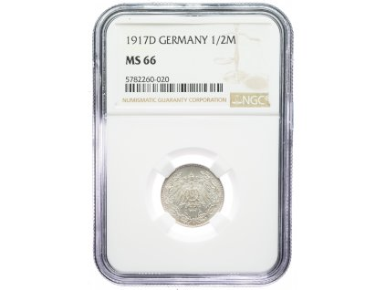 9186 1 2 marka 1917 d ngc ms66