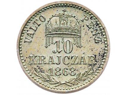 10 Krajczár 1868 KB, Artex