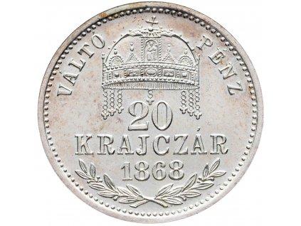 20 Krajczár 1868 KB, Artex