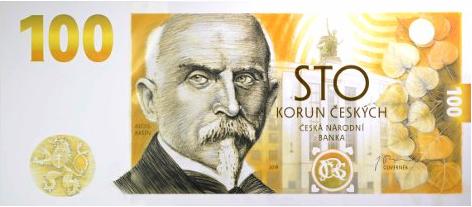 Pamětní bankovka 100 kč 2019 s Aloisem Rašínem