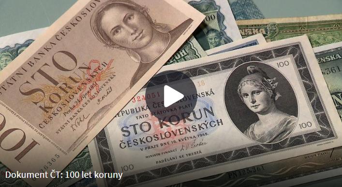 100. let koruny - dokument ČT
