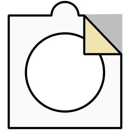 Samolepící kartonové mincovní rámečky