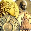 Zlaté novoražby mincí a medailí