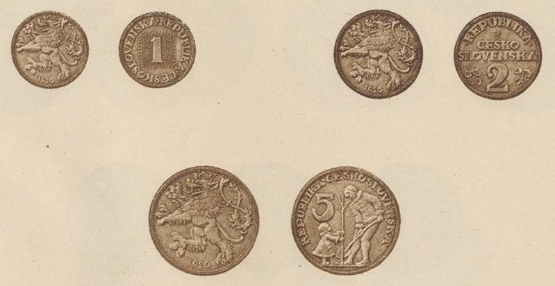 josef-sejnosta-sadrove-modely-nerealizovane-navrhy-minci-1-stotina-2-stotiny-5-stotin-frank-csr-1920