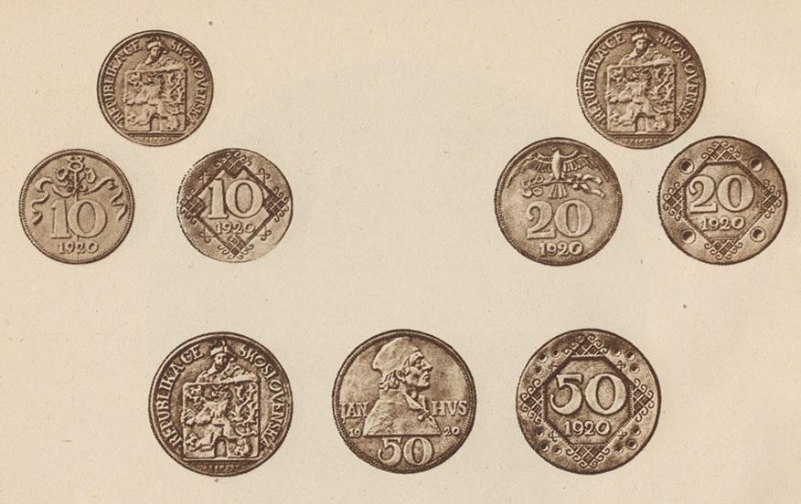 josef-sejnosta-sadrove-modely-nerealizovane-navrhy-minci-10-stotina-20-stotiny-50-stotin-frank-csr-1920