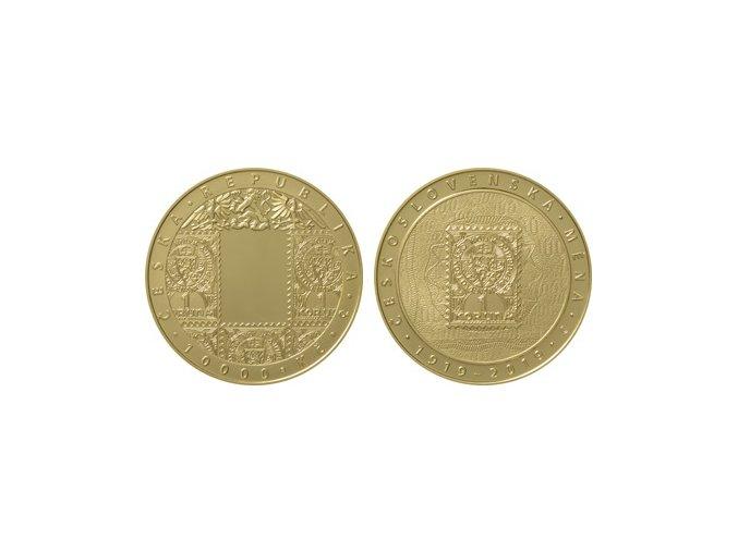 2019 10000 kc zlata pametni mince zavedeni ceskoslovenske meny standard au