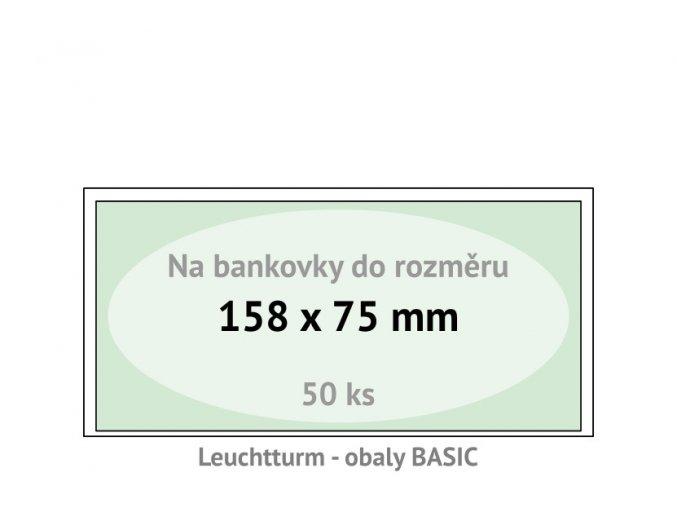 basic 158 kapsy na bankovky 158x75mm ochranne pouzdra obaly na papirove penize leuchtturm 344903
