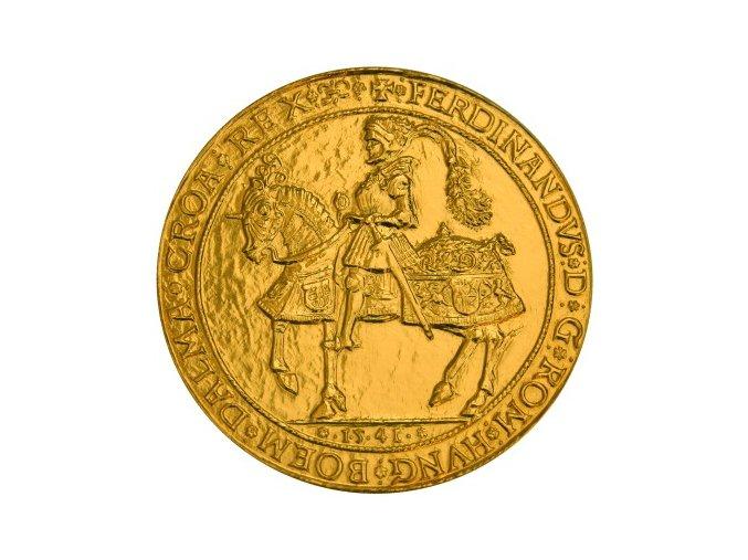 pozlacena jezdecka medaile ferdinanda i kosicky zlaty poklad