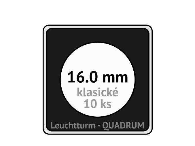 quadrum kapsle 16 mm na mince ctvercove bublinky mincovni pouzdra 50x50 mm 10ks leuchtturm 317149 lighthouse