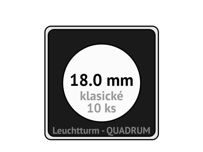 quadrum klasicke hranate kapsle 18 mm na mince ctvercove bublinky mincovni pouzdra 50x50 mm 10ks leuchtturm 304772 lighthouse