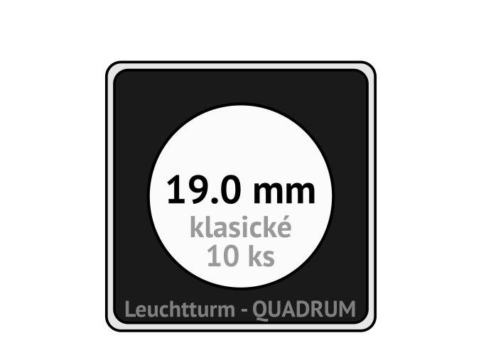 quadrum klasicke hranate kapsle 19 mm na mince ctvercove bublinky mincovni pouzdra 50x50 mm 10ks leuchtturm 302707 lighthouse