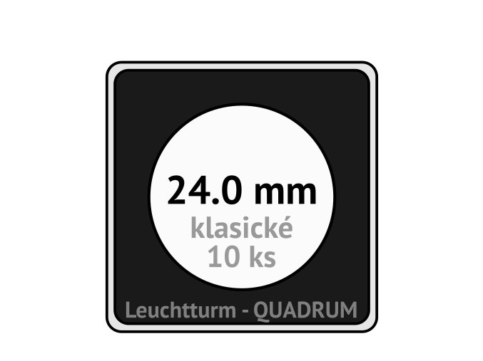 quadrum klasicke hranate kapsle 24 mm na mince ctvercove bublinky mincovni pouzdra 50x50 mm 10ks leuchtturm 329802 lighthouse