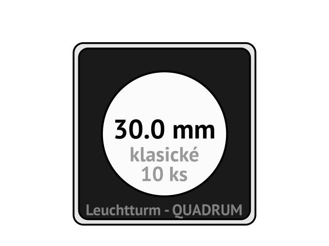 quadrum klasicke hranate kapsle 30 mm na mince ctvercove bublinky mincovni pouzdra 50x50 mm 10ks leuchtturm 330443 lighthouse