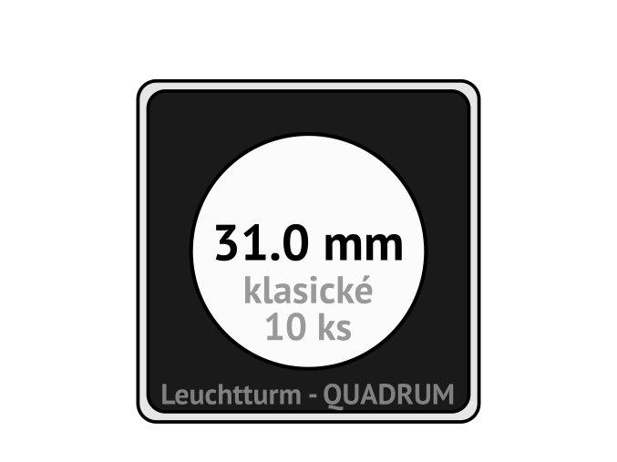 quadrum klasicke hranate kapsle 31 mm na mince ctvercove bublinky mincovni pouzdra 50x50 mm 10ks leuchtturm 323305 lighthouse