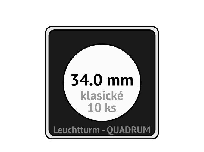 quadrum klasicke hranate kapsle 34 mm na mince ctvercove bublinky mincovni pouzdra 50x50 mm 10ks leuchtturm 332108 lighthouse