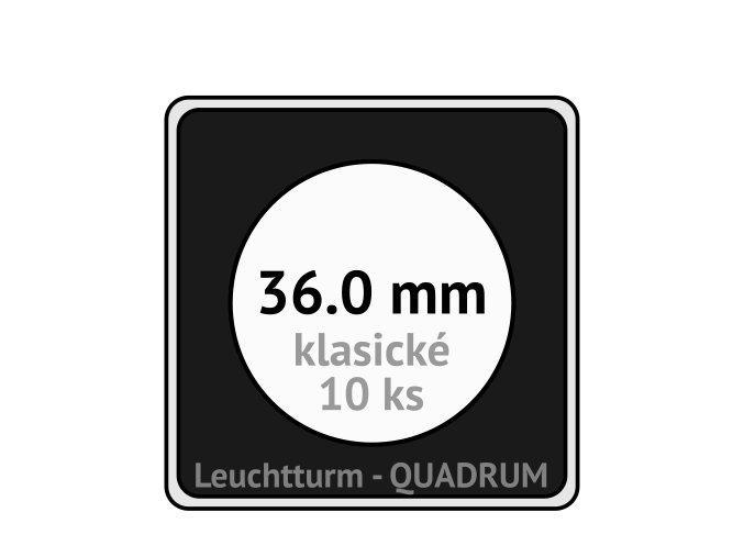 quadrum klasicke hranate kapsle 36 mm na mince ctvercove bublinky mincovni pouzdra 50x50 mm 10ks leuchtturm 309045 lighthouse