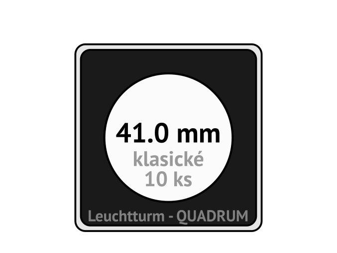 quadrum klasicke hranate kapsle 41 mm na mince ctvercove bublinky mincovni pouzdra 50x50 mm 10ks leuchtturm 330794 lighthouse