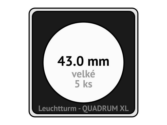 quadrum xl 43 mm pro velke mince medaile ctvercove mincovni kapsle s cernou vlozkou s vyrezem 5 ks leuchtturm 341162 lighthouse