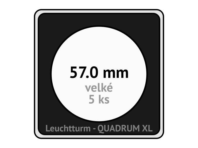 quadrum xl 57 mm pro velke mince medaile ctvercove mincovni kapsle s cernou vlozkou s vyrezem 5 ks leuchtturm 341176 lighthouse