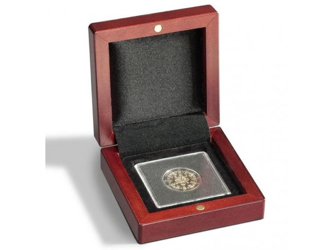 volterra 1 quadrum mincovni drevena etue krabicka kazeta na 1 ctvercovou kapsli hrantou bublinku 50x50mm leuchtturm 339043 lighthouse