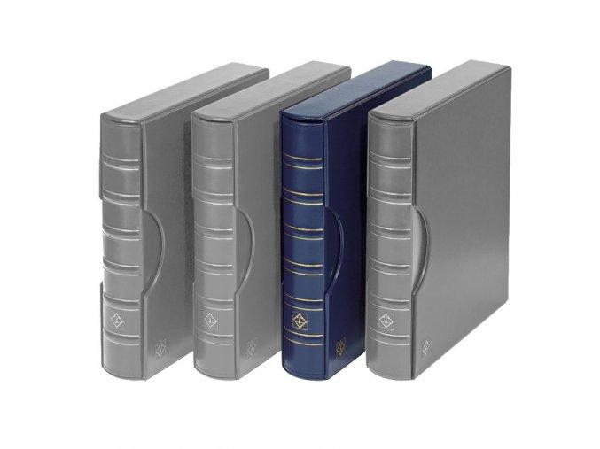 grande classic modre album na bankovky mince pohledy znamky a4 dokumenty s kazetou leuchtturm 301687 lighthouse