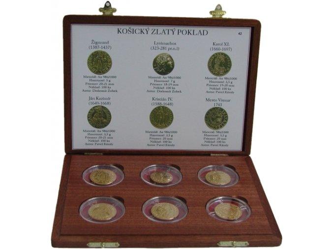 zlate kolekce replik mince kosice poklad au