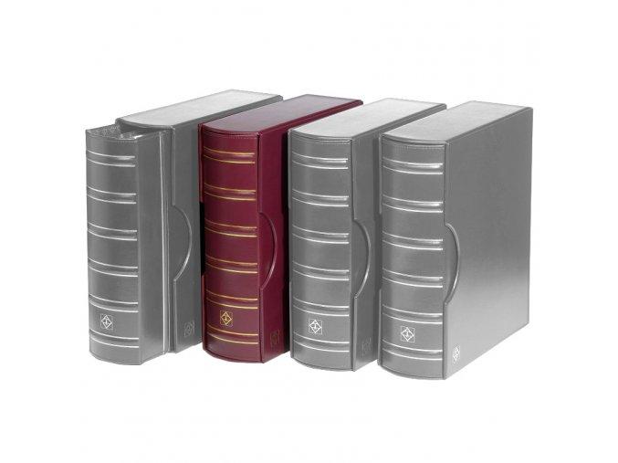 grande gigant classic cervene album s kazetou na bankovky mince pohledy dokumenty a4 znamky leuchtturm 318152 lighthouse