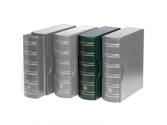 grande gigant classic zelene album s kazetou na bankovky mince pohledy dokumenty a4 znamky leuchtturm 337958 lighthouse