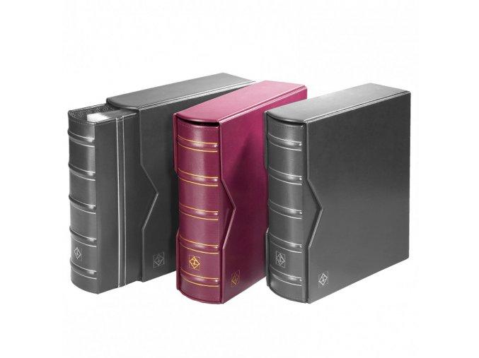 optima gigant classic vinove cervene album s kazetou na bankovky mince pohledy optima g leuchtturm 301654 lighthouse