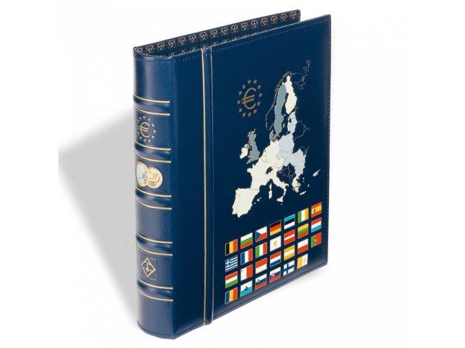 optima euro classic modre album na euro mince vista album bez kazety leuchtturm 326196 lighthouse