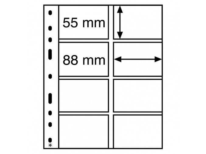 pruhledne albove listy optima 4vc 8 kapes pro telefonni vernostni nebo platebni karty leuchtturm 328118 lighthouse