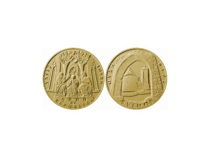 zlata pametni mince hrad svihov cnb