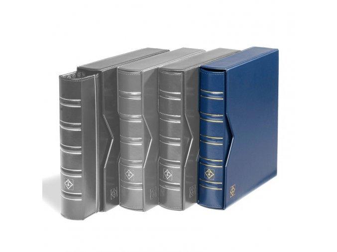 optima classic modre mincovni album s kazetou prazdne bez listu leuchtturm 313389 lighthouse